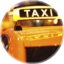 A close view of Taxi top light